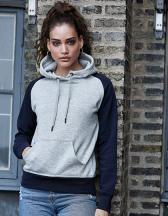 Womens Two-Tone Hooded Sweatshirt